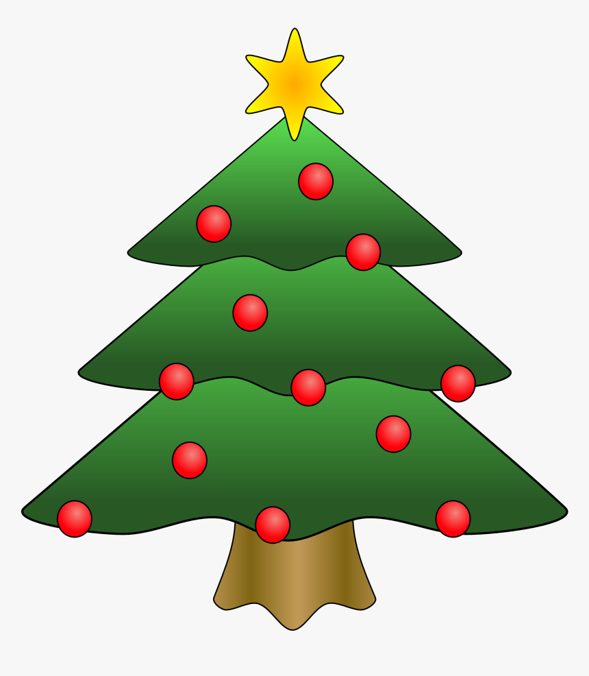 Clip Art - Small Christmas Tree Cartoon