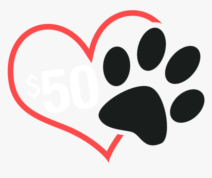 Paw Print With Heart Png / Available in png and vector.