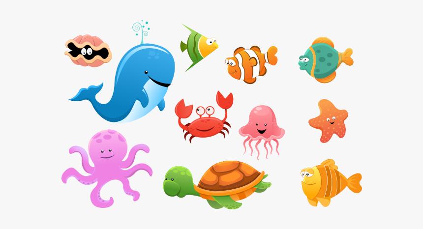 Png Ocean Animals Transparent Ocean Animals Images - Sea Animals  Transparent Background, Png Download , Transparent Png Image - PNGitem