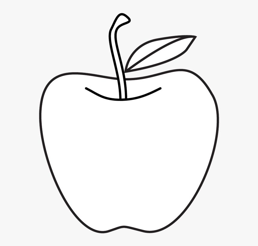 Apple Drawing Clip Art Apple In Line Drawing Hd Png Download Transparent Png Image Pngitem