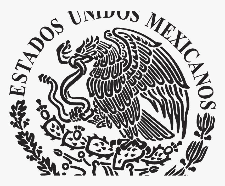 Logo Escudo Nacional De Mexico Black And White Vector Coat Of Arms Of Mexico Hd Png Download Transparent Png Image Pngitem