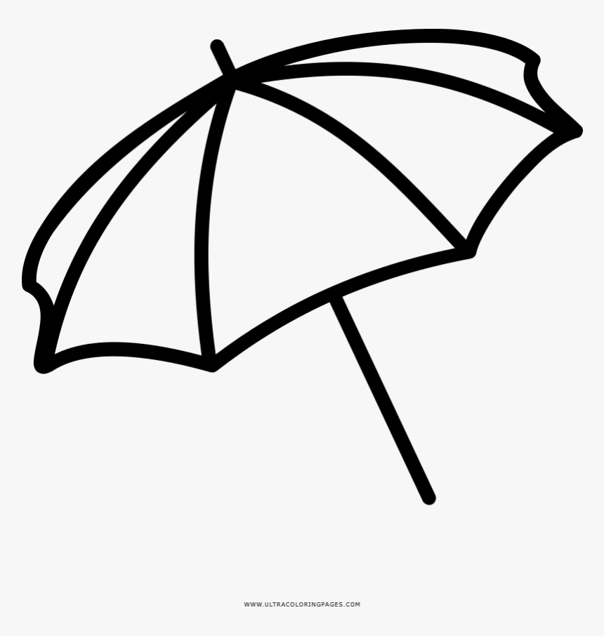 Beach Umbrella Coloring Page - Dibujo De Sombrilla De Playa ...
