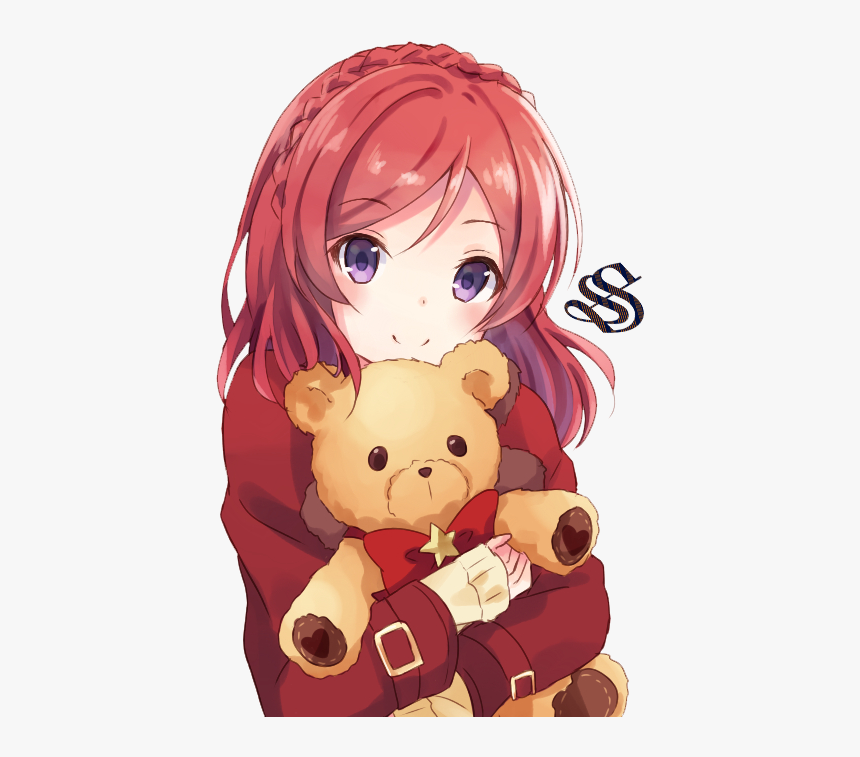 Cute Anime Girl With Red Hair Hd Png Download Transparent Png Image Pngitem