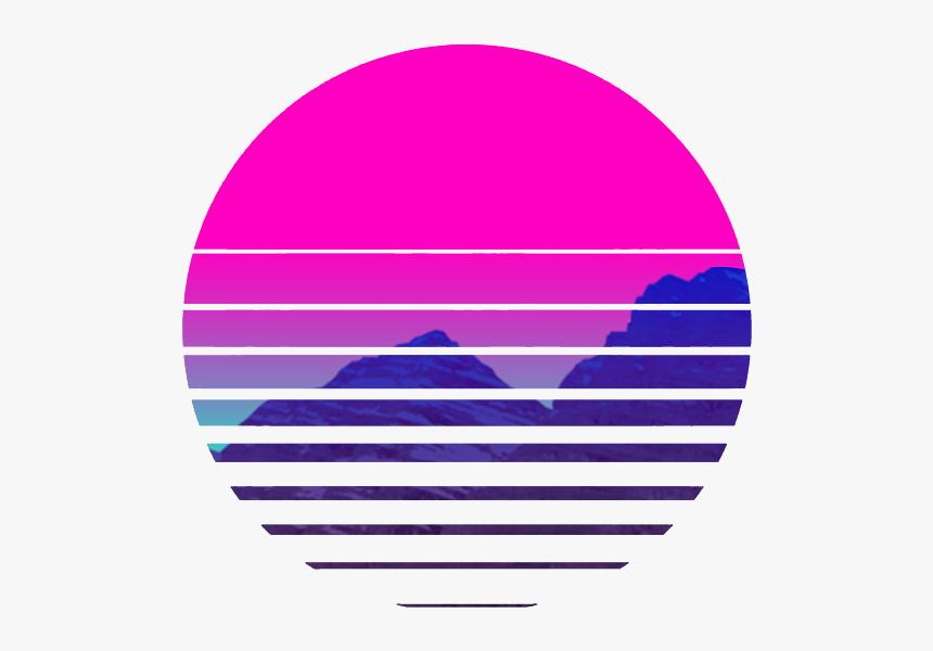Vaporwave Sunset Png Transparent Png Transparent Png Image