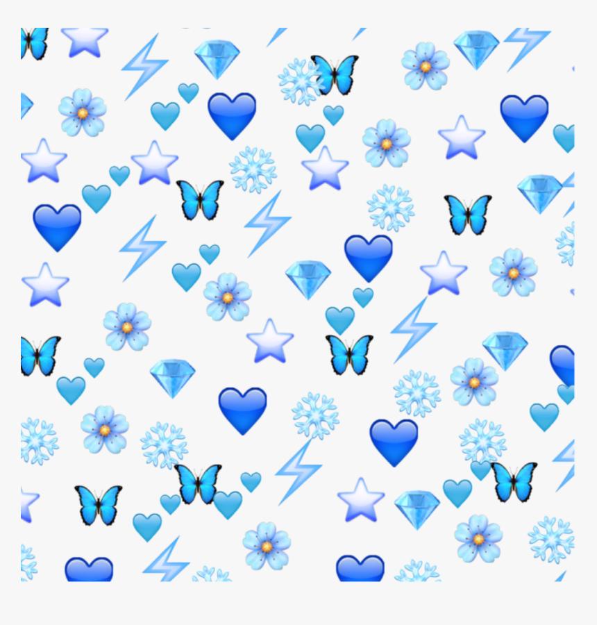 aesthetic blue butterfly emoji wallpaper