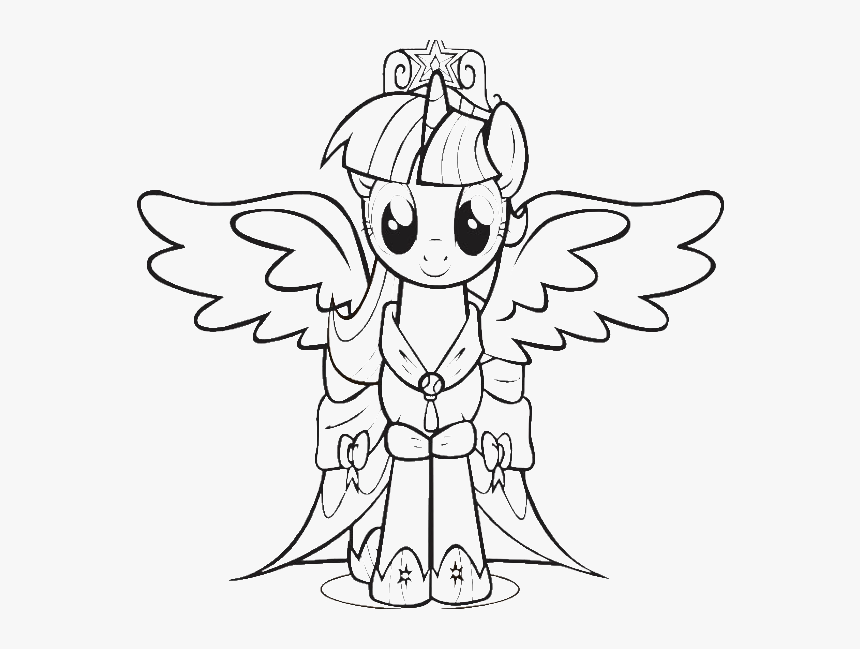 My Little Pony Coloring Pages Princess Twilight Sparkle - My ...
