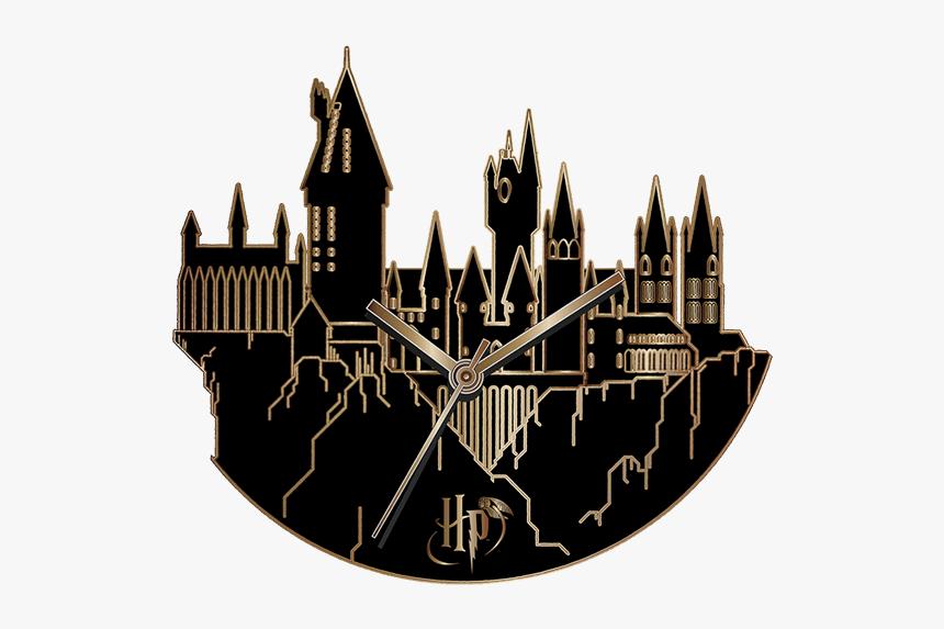 Hogwarts Harry Potter Fandom Silhouette Clock Harry Potter