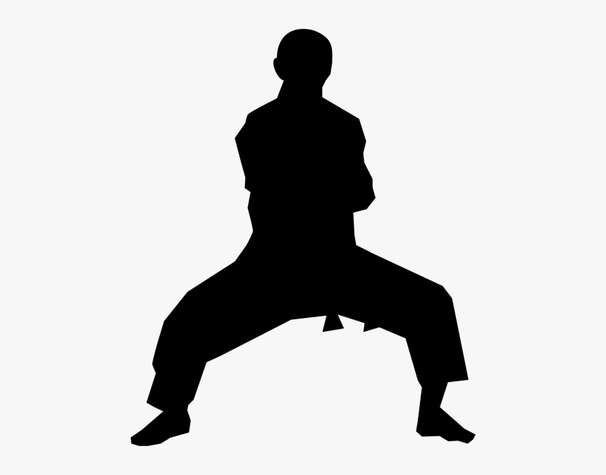 Karate Clip Art Martial Arts Vector Graphics Silhouette Silhouette Martial Art Hd Png Download Transparent Png Image Pngitem