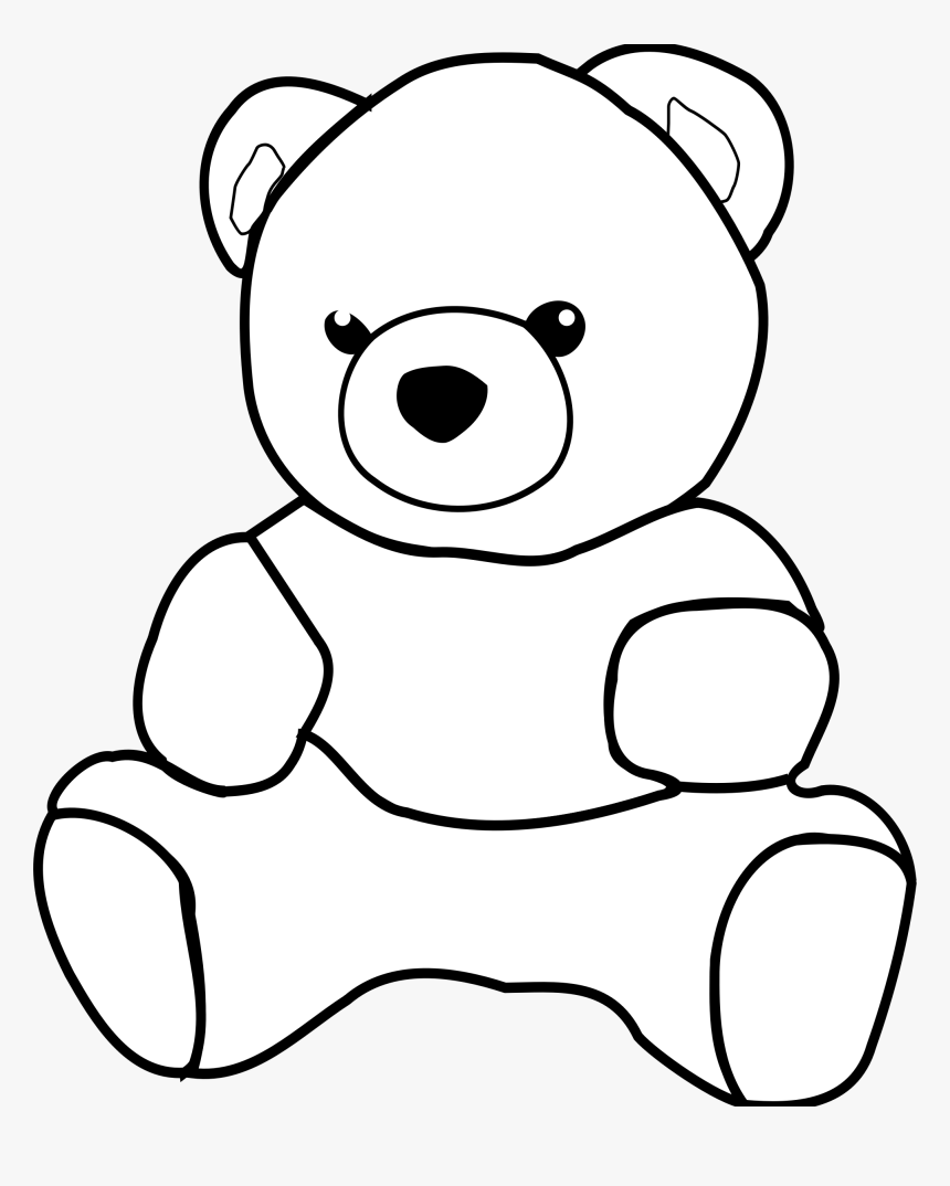 Teddy Bears - Teddy Bear Outline Drawing, HD Png Download ...