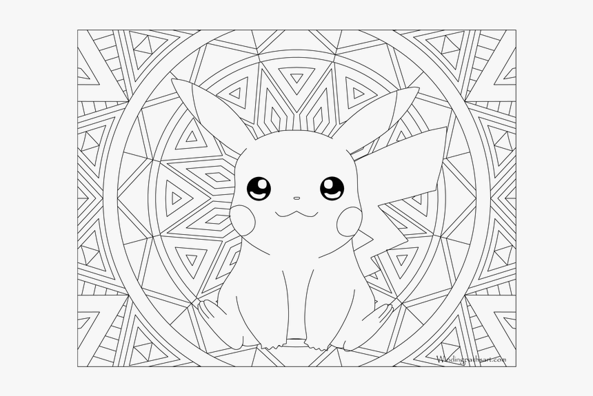 Pikachu Adult Coloring Pages Hd Png Download Transparent Png