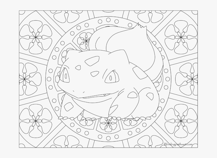Adult Pokemon Coloring Page Bulbasaur Pokemon Adult Coloring Sheet Hd Png Download Transparent Png Image Pngitem