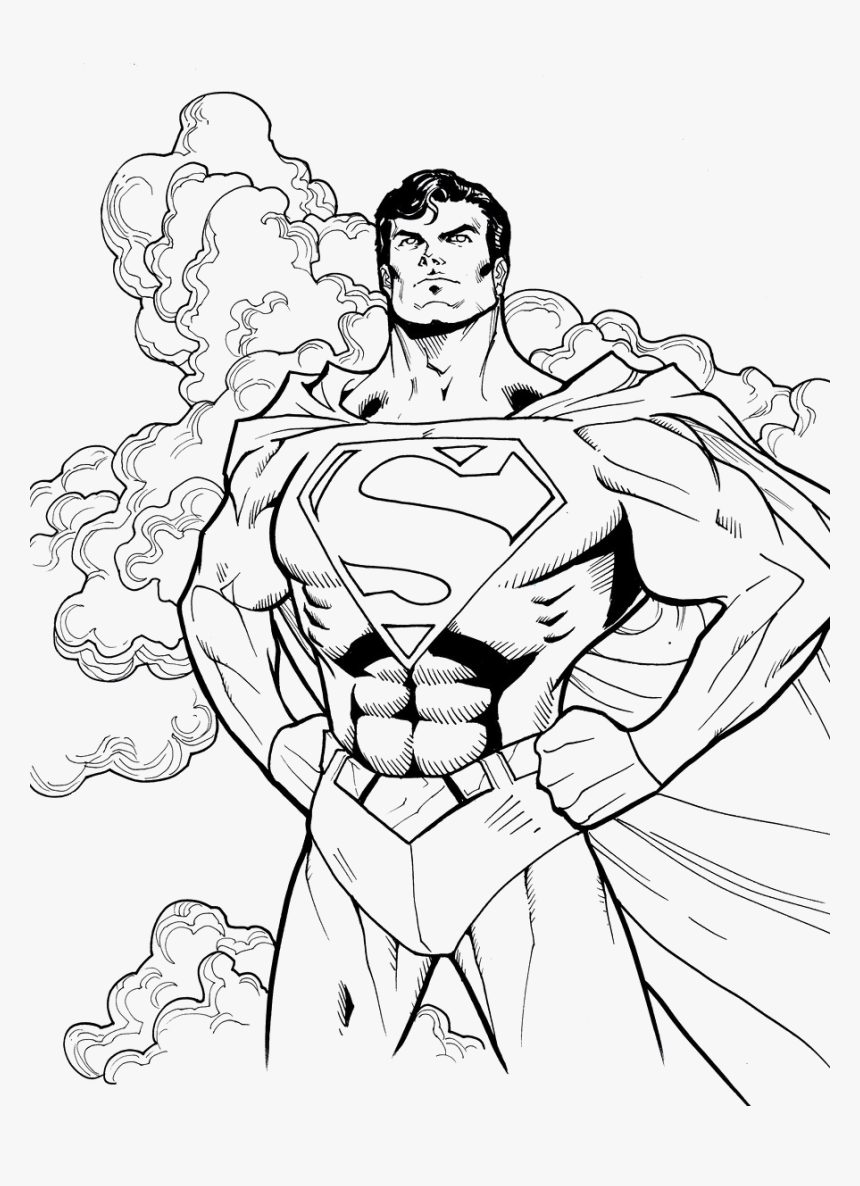 Cool Superman Coloring Pages, HD Png Download , Transparent ...