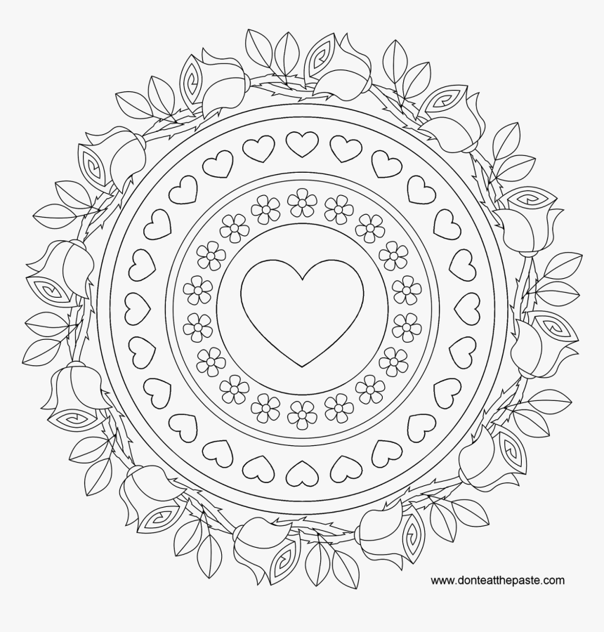 Adult Advanced Mandala Coloring Pages - Birthday Mandala Coloring Pages, HD  Png Download , Transparent Png Image - PNGitem