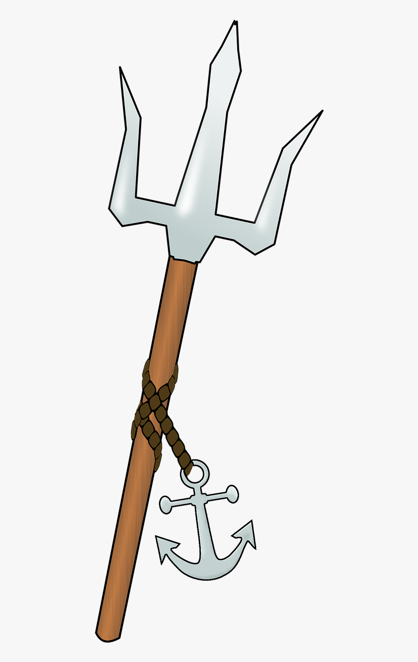 Trident Of Poseidon Drawing Hd Png Download Transparent