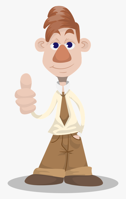 Gambar Kartun Acungkan Jempol HD Download Transparent