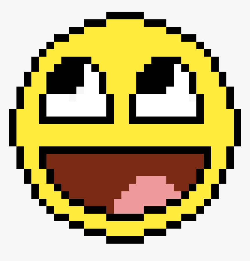 Smile Pixel Art Minecraft Pixel Art Easy Hd Png Download