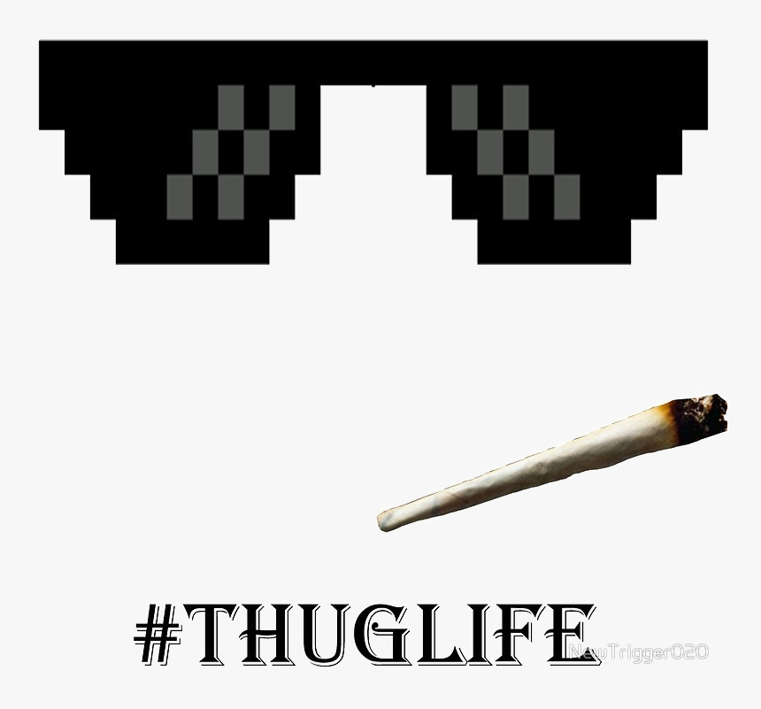 Sunglasses Gangster Png Clip Art Black And White Download Thug Life Glasses Transparent Png 849051 Pinclipart