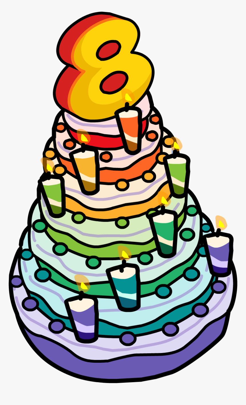 Swell 8Th Anniversary Party Cake 8Th Birthday Cake Clipart Hd Png Funny Birthday Cards Online Inifodamsfinfo