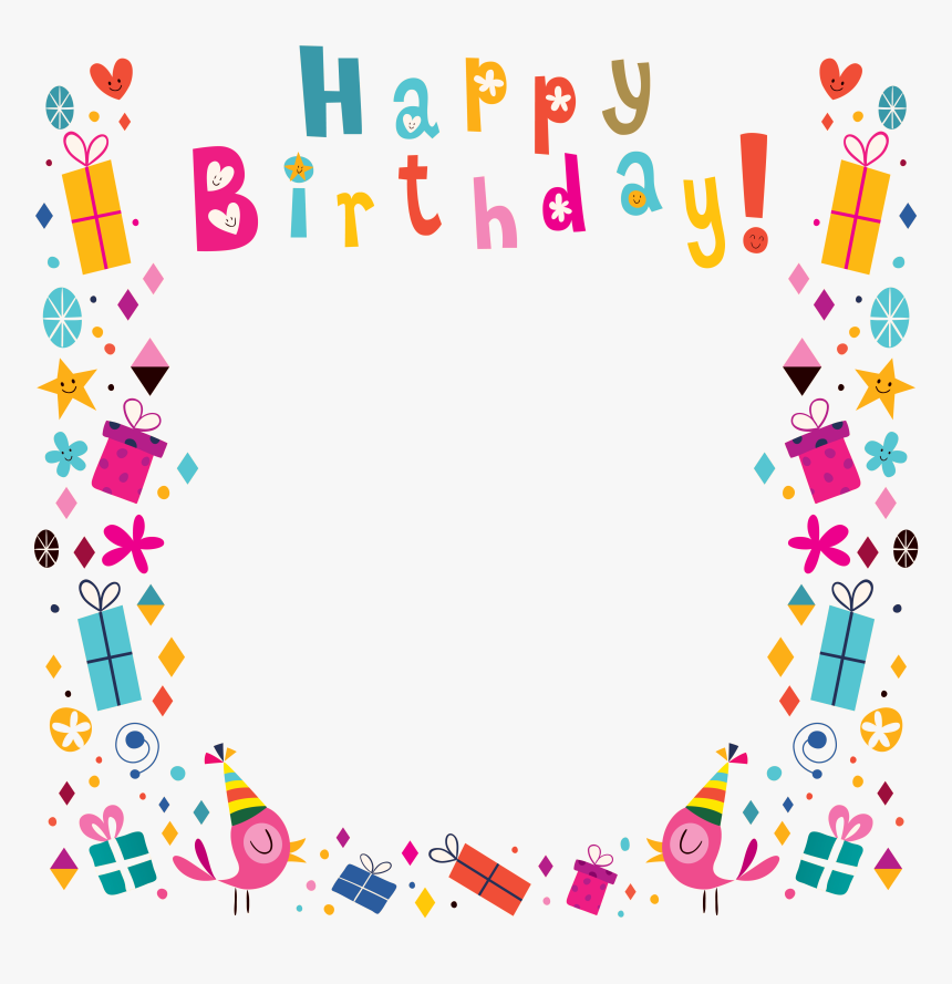 Surprising Birthday Greeting Card Clip Art Birthday Border Hd Png Download Personalised Birthday Cards Paralily Jamesorg