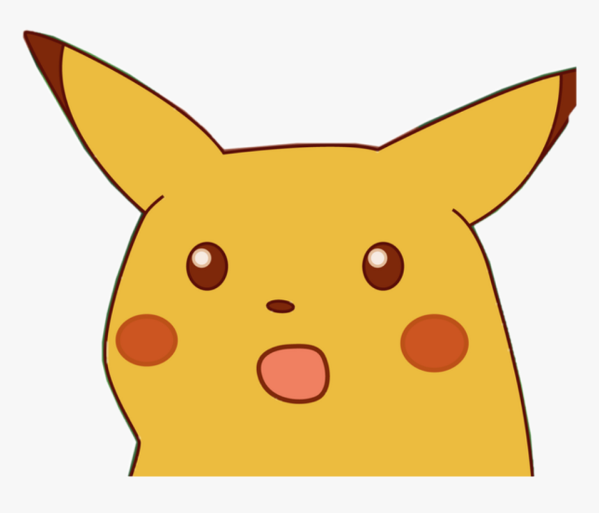 Memes Para Stickers Png Png Download Surprised Pikachu Face
