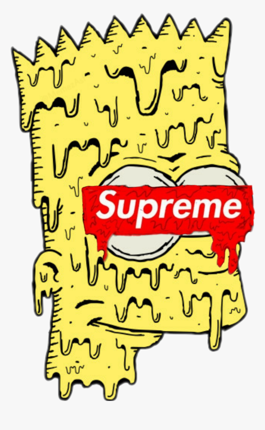 Transparent Bart Simpson Png - Bart Simpson Supreme, Png Download