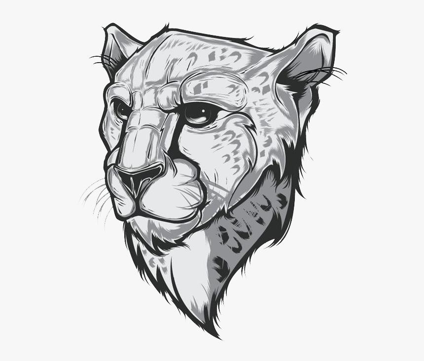 face cheetah logo design hd png download transparent png image pngitem face cheetah logo design hd png