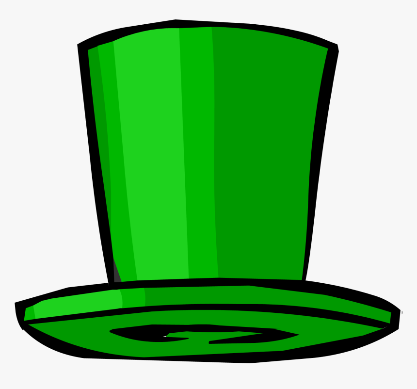 Club Penguin Rewritten Wiki Green Top Hat Png Transparent Png