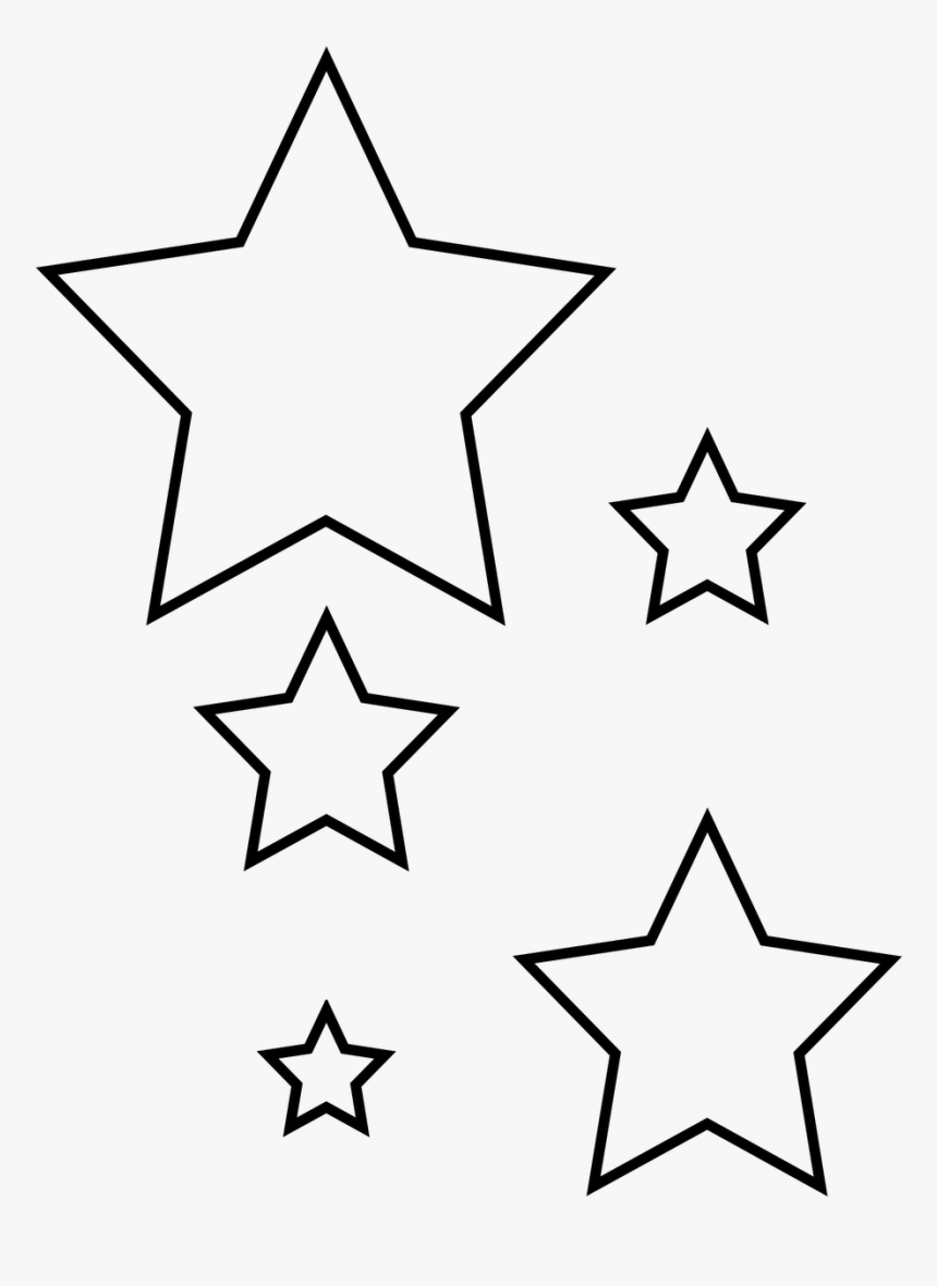 This is a graphic of Star Outline Printable inside pattern