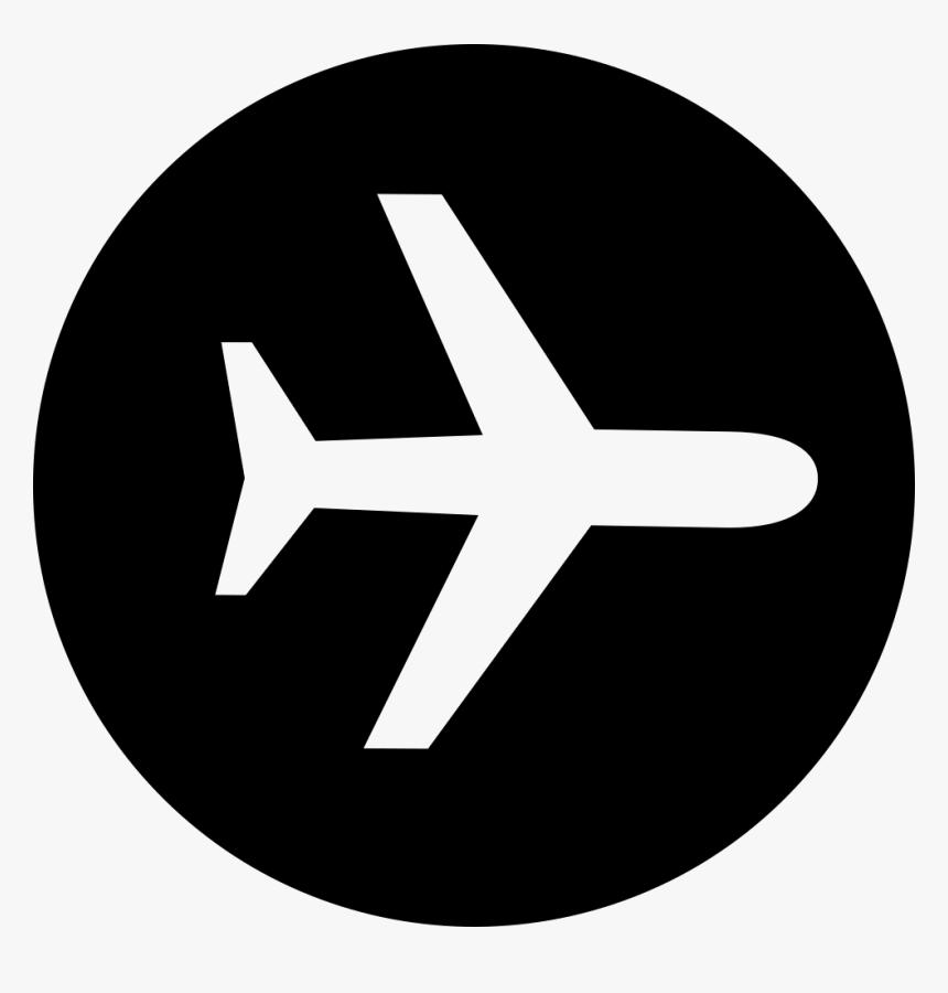 circle airplane icon png