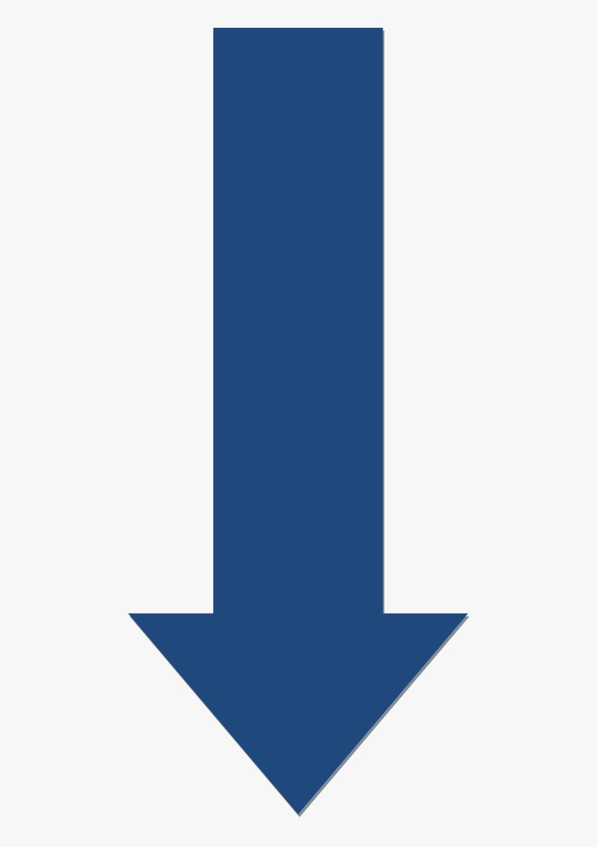 Blue Downwards Arrow - Blue Arrow Down Png, Transparent Png ...