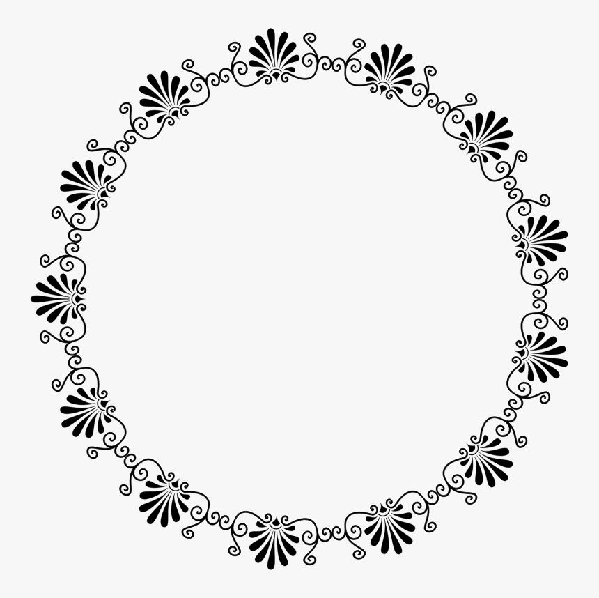 Bingkai Bunga Hitam Putih Png Transparent Png Transparent Png