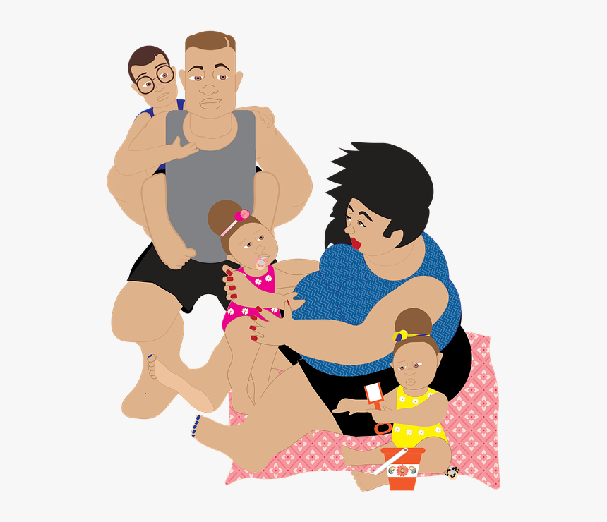 Family Mom Mother Child Girl Baby Daughter Young Cartoon Hd Png Download Transparent Png Image Pngitem