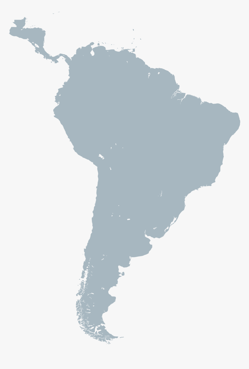 Transparent Central America Png - South America Map Png, Png ...