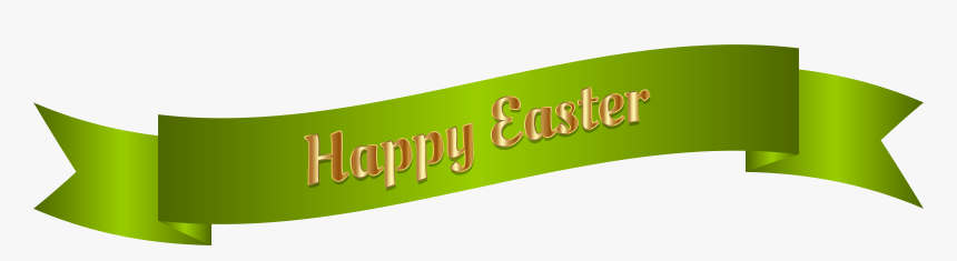Green Happy Easter Banner Png Clip Art Image - Happy ...