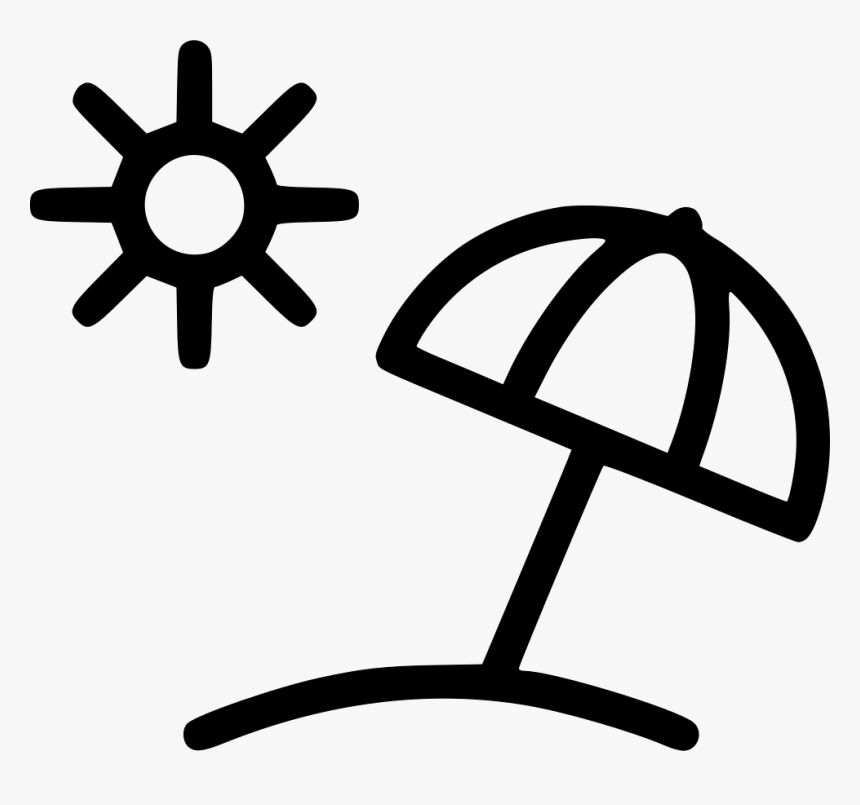 umbrella sun beach summer summer icon black and white hd png download transparent png image pngitem hd png download transparent png image