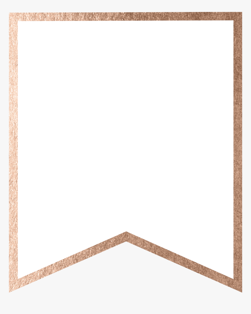 Rose Gold Banner Template Free Printable Blank , Png - Banner Inside Free Letter Templates For Banners