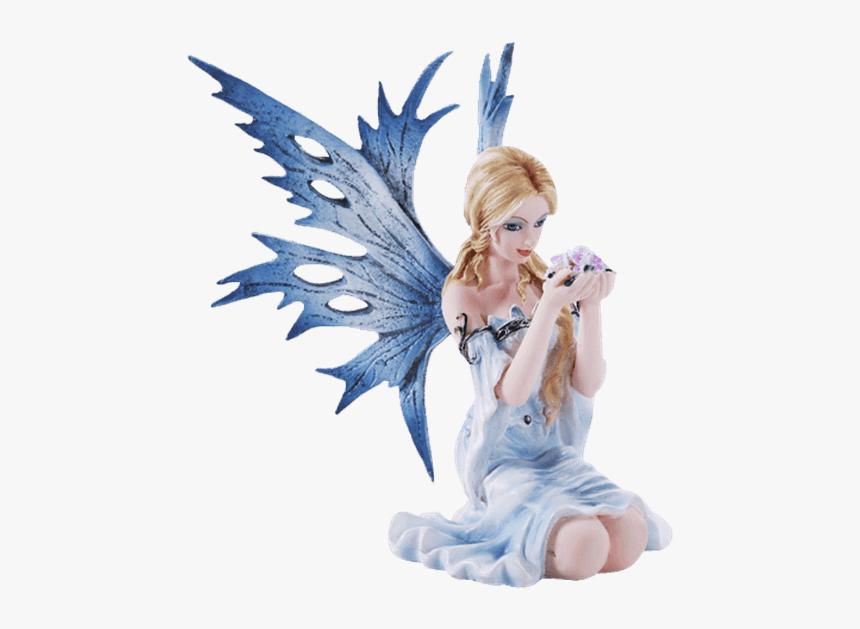 Large Blue Sitting Fairy Hd Png Download Transparent Png Image Pngitem