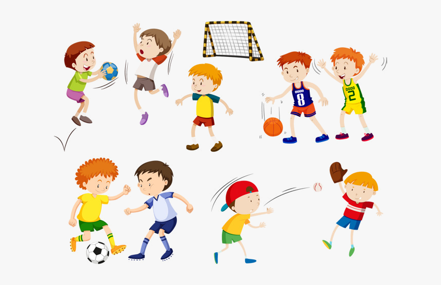Sports Clipart Vector Hand Painted Kids Space Transparent ...
