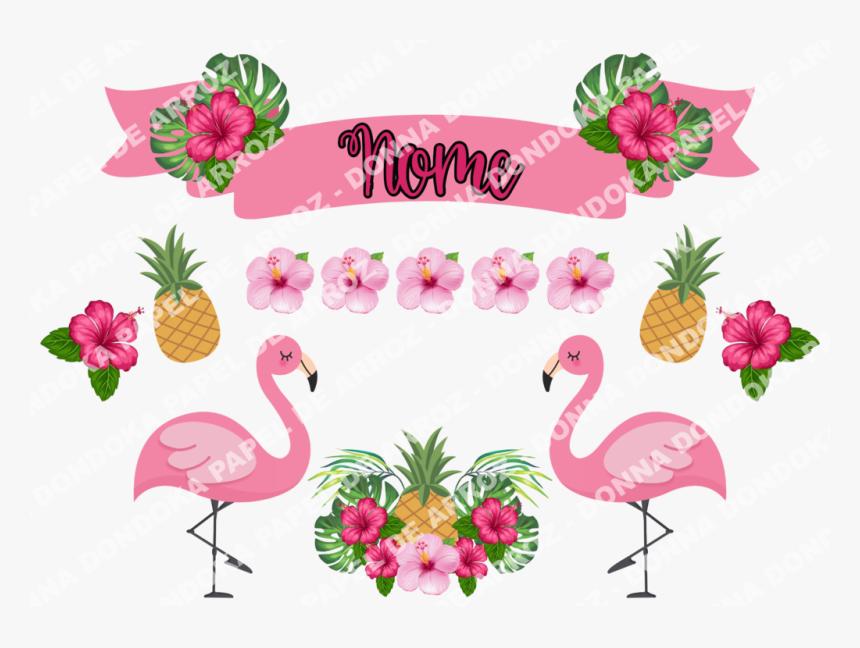 Topo De Bolo Flamingo Com Flores Topo De Bolo Flamingo Hd