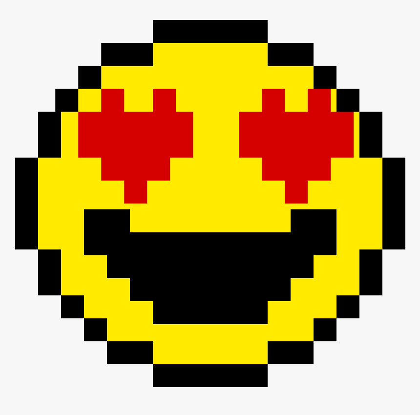 Pixel Art Facile Smiley Clipart Png Download 8 Bit Gold