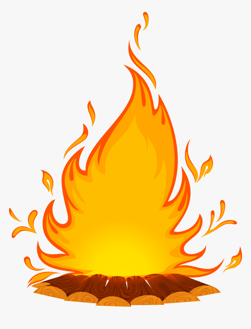 Fire Cartoon Clip Art Feu De Cheminee Dessin Hd Png Download