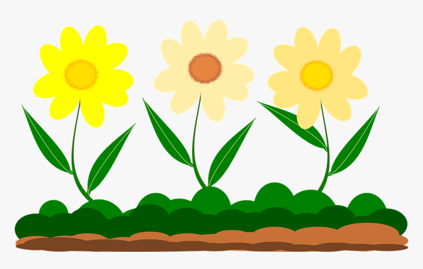 yellow flower vector image garden gambar rumput dan bunga kartun hd png download transparent png image pngitem yellow flower vector image garden
