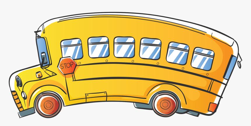 Transparent Schoolbus Clipart School Bus Clipart Black And White