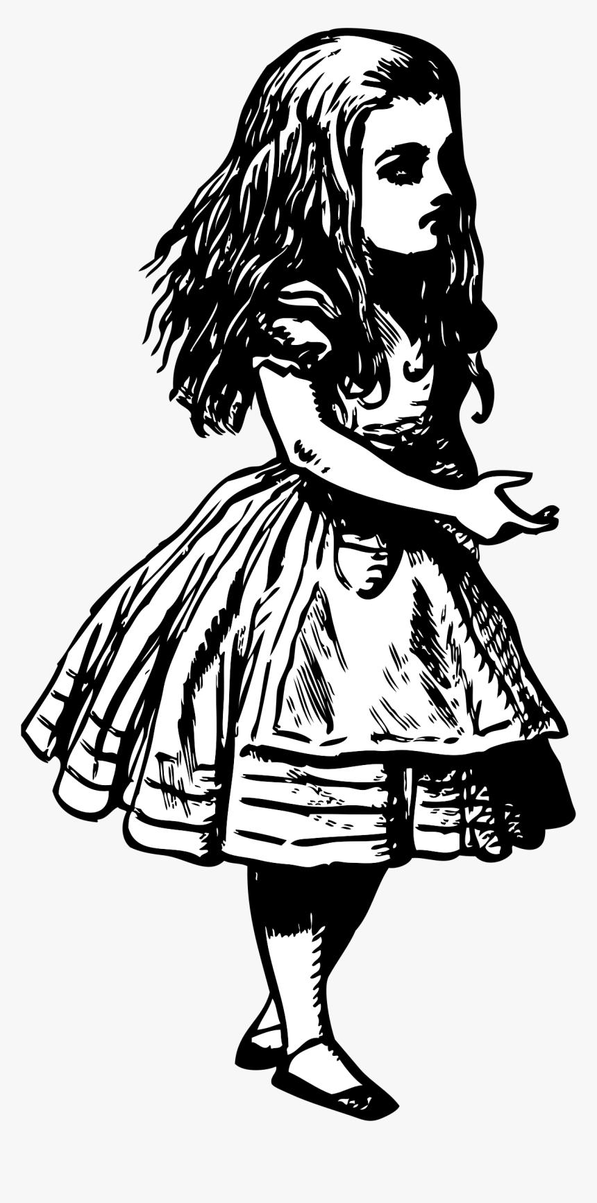 Alice In Wonderland Vintage Clipart Writing A Story Drawing Hd Png Download Transparent Png Image Pngitem