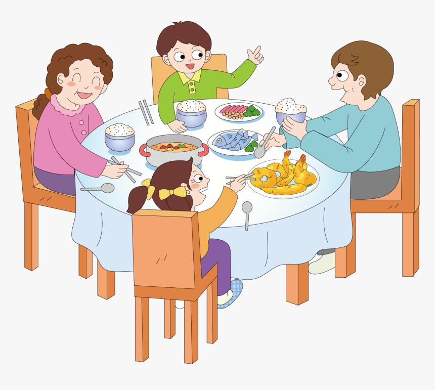 Dinner Breakfast Eating - Family Eating Together Clipart ...