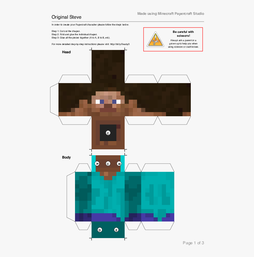 minecraft steve png head