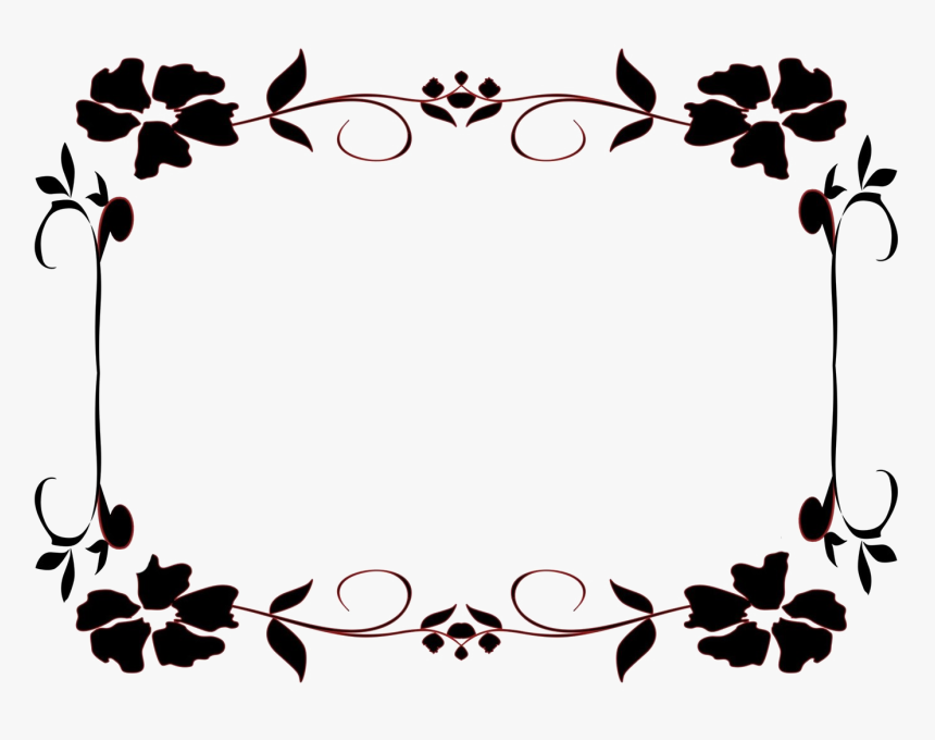 Black And White Flower Border Clipart | Clipart library - Free in 2020 | Flower  border clipart, Clip art borders, Flower drawing