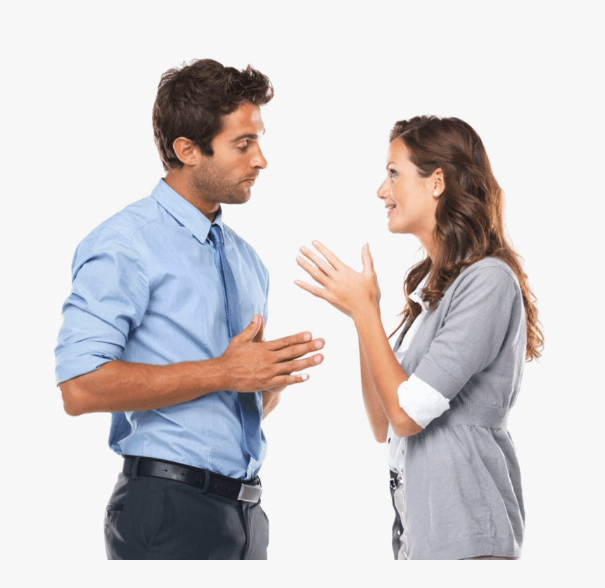 Talking With Client Two People Talking To Each Other Hd Png Download Transparent Png Image Pngitem 1 how does the man feel. hd png download transparent png image