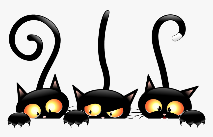 Halloween Witch Black Cat Free Download Png Hd Clipart Transparent Background Halloween Clip Art Png Download Transparent Png Image Pngitem