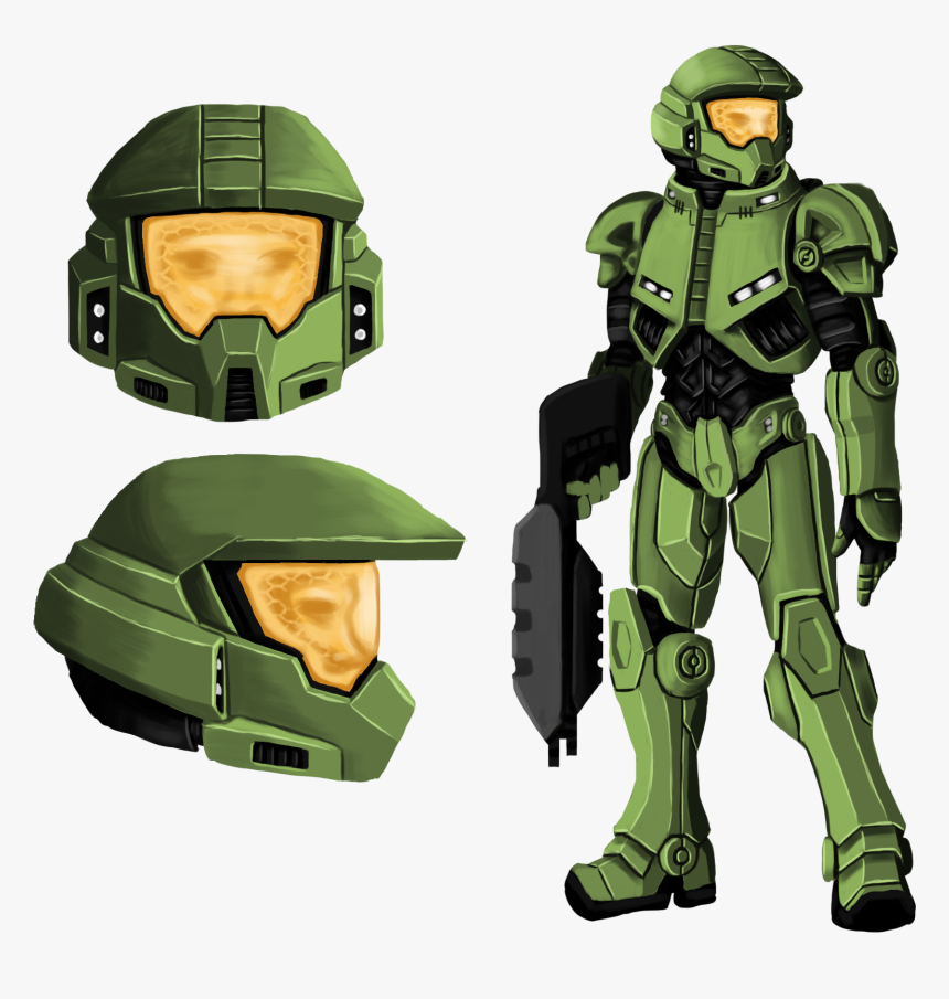 Design Sketches For The Master Chief Redesign Halo Combat